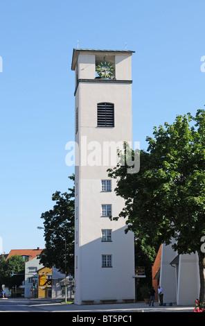 Traunreut church - Stock Photo