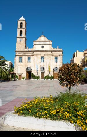 Orthodox church in Chania. Crete - Stock Photo