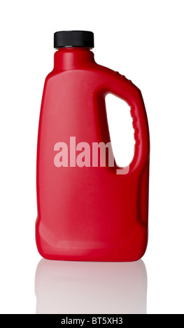 Red plastic bottle - Stock Photo
