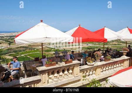 Restaurant Fontanella Tea Gardens in Mdina, Malta - Stock Photo