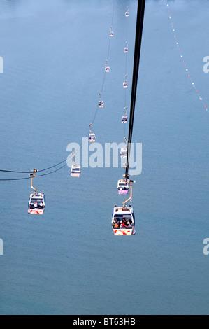 ngong ping 360 skyrail  capsule cable car lantau island tung chung - Stock Photo