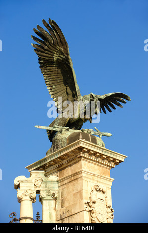 Austro Hungarian Statue, Buda Castle, Budapest, Hungary - Stock Photo