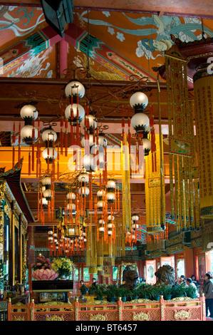 Tian Tan. Hong Kong, China asia Po Lin Monastery Buddhist monastery Ngong Ping Plateau Lantau Island The Big Hut - Stock Photo
