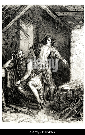 king Alfred the Great English:burning cake  Ælfrēd, Ælfrǣd, elf counsel 849 – 26 October 899 was King of Wessex - Stock Photo