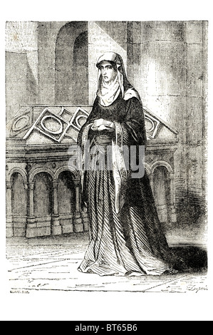 Matilda of Scotland. 1080 – 1 May 1118 born Edith, first wife  Queen consort  Henry I of England.king Matilda was - Stock Photo