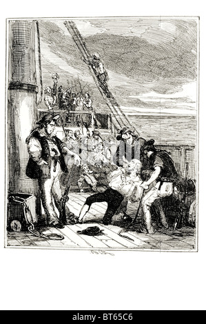 mutiny on the Bounty occurred aboard  British Royal Navy ship HMS Bounty  28 April 1789, books, films, popular songs - Stock Photo