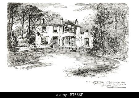 swanston cottage robert louis stevenson Robert Louis Balfour Stevenson 13 November 1850 – 3 December 1894 Scottish - Stock Photo