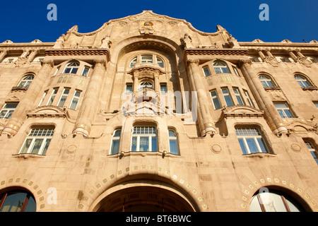 Four Seasons Hotel in The Art Nouveau Gresham Palace, Budapest, Hungary - Stock Photo