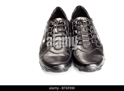 sport shoes pair isolated on white - Stock Photo
