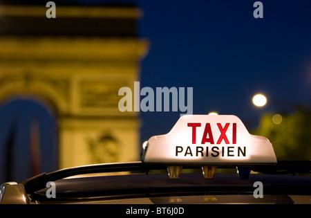 Paris taxi - Stock Photo
