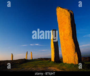 The Ring of Brodgar, Orkney Islands, Scotland, United Kingdom, UNESCO World Heritage site, ancient megalithic stone - Stock Photo