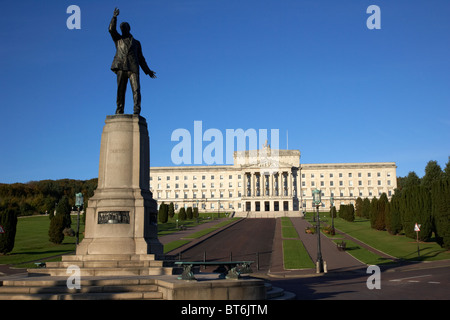 lord carson statue at the northern ireland parliament buildings stormont belfast northern ireland uk - Stock Photo