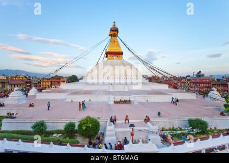 Boudhanath Stupa, Kathmandu, Nepal - Stock Photo
