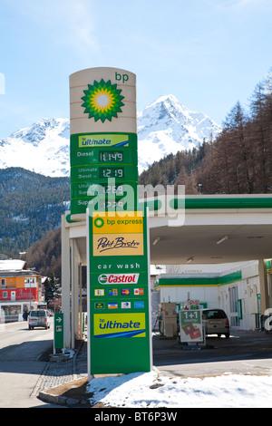 BP petrol station - Stock Photo