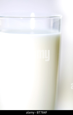 fresh milk in tumbler - Stock Photo