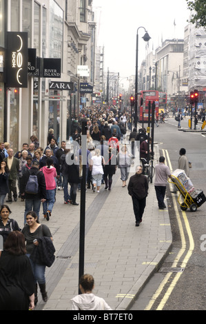 Oxford Street on Saturday, London, UK. - Stock Photo