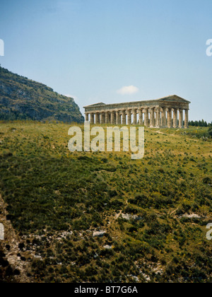 Sicily Segesta the Temple 5th century BC - Stock Photo