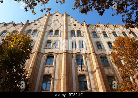 The Sucession Postal Savings Bank building (Postatakarékpénztár) designed by Ödön Lechner. Budapest, Hungary - Stock Photo