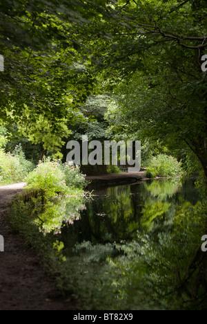 Cromford Canal, Derbyshire Peak District, England UK. - Stock Photo