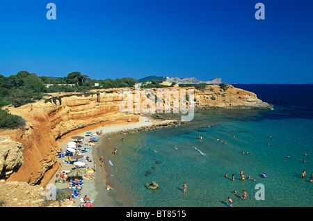 Rocky coast near Sa Caleta, Ibiza, Balearic Islands, Spain - Stock Photo