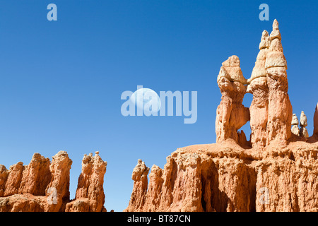 Moonrise over  Bryce Canyon - Stock Photo