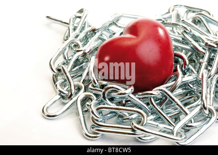 Heart in chains - Stock Photo