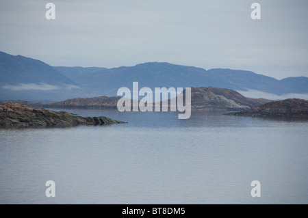 Arctic Canada, Nunavut, Baffin Island, Iqaluit (aka Frobisher Bay). Baffin Island coastline. - Stock Photo