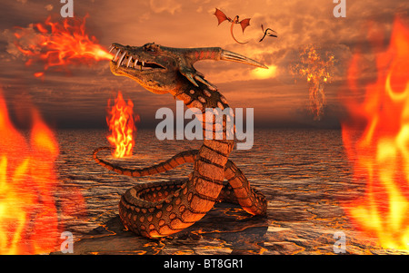Serpent Dragons - Stock Photo