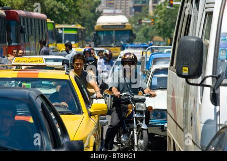 Traffic in Tehran, Iran - Stock Photo