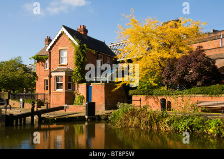 Former lock keeper's cottage at Lock 92 (Duke's Lock), the last lock on the Rochdale Canal, Castlefield, Manchester, - Stock Photo
