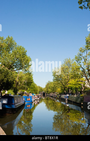 The Regent's Canal in Little Venice, London in May 2010 - Stock Photo