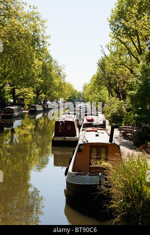 Little Venice in early summer, London in May 2010 - Stock Photo