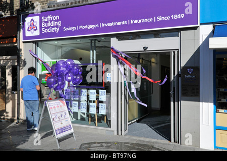 Saffron Building Society branch premises opening event - Stock Photo