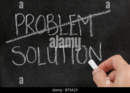 Finding the solution to a problem - Stock Photo