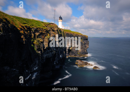 Noss Head lighthouse (near Wick), Caithness, Scotland - Stock Photo
