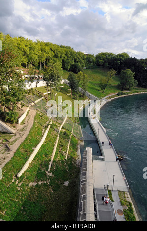 Bears' park, a green space dedicated to the city's bears and replacing the old bears pit in Bern, Switzerland. - Stock Photo