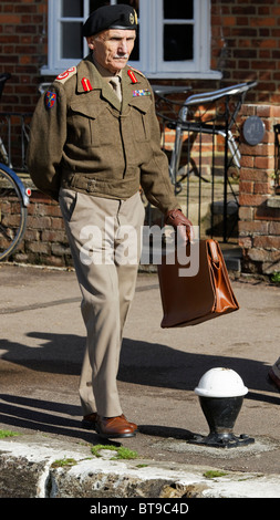 Actor - Field Marshal Bernard Law Montgomery of Alamein KG GCB DSO PC in Authentic Accurate Recreation Uniformed - Stock Photo