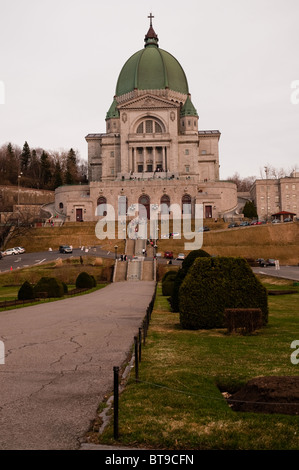 View of St Joseph's Oratory of Mont Royal, Montreal, Canada - Stock Photo