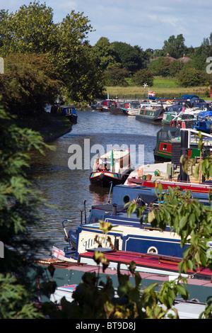 White Bear Marina on the Leeds Liverpool Canal at Adlington, Lancashire - Stock Photo