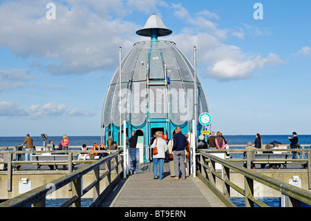 Diving bell at the pier in the Baltic resort Sellin, Ruegen Island, Mecklenburg-Western Pomerania, Germany, Europe - Stock Photo