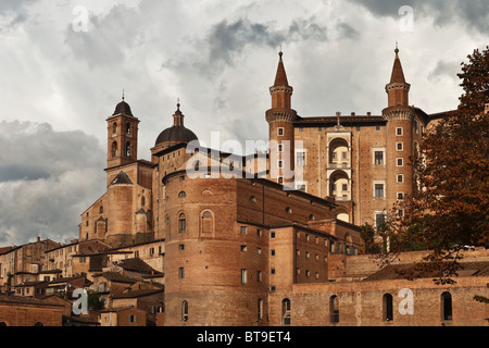 The Ducal Palace of Urbino, Marche, Italy - Stock Photo
