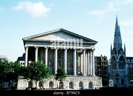 Birmingham Town Hall, Chamberlain Square England UK English halls classical architecture towns - Stock Photo