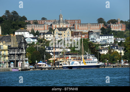 Dartmouth and Dartmouth Naval College Devon Uk - Stock Photo