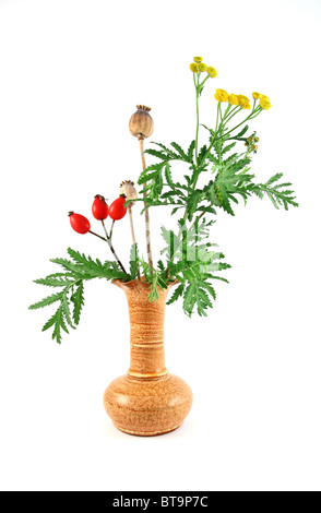 Autumn flowers in a vase - Stock Photo