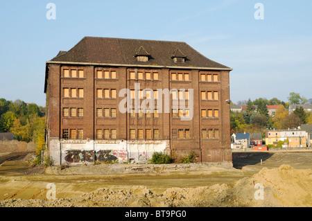 Old factory building, construction site, Phoenix construction project, Phoenixsee lake, structural change, Hoerde, - Stock Photo