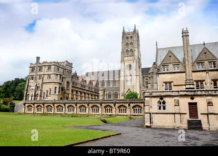 Downside Abbey and school in Stratton-on-the-Fosse near Radstock, Somerset UK - Stock Photo
