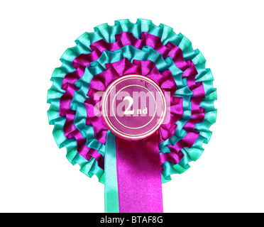 Second place rosette - Stock Photo