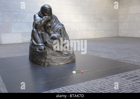 Neue Wache, Memorial to the victims of Fascism and Militarism in Berlin, Germany - Stock Photo
