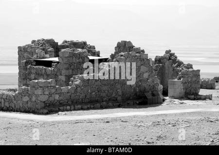 masada ,the byzantine church - Stock Photo