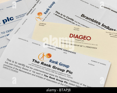 Share Certificates - Stock Photo